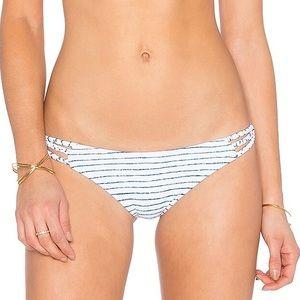 Frankie's Bikinis Kaia Bikini Bottom in Navy Stripe Size Small